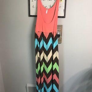Dresses & Skirts - Boutique bought chevron dress NWT